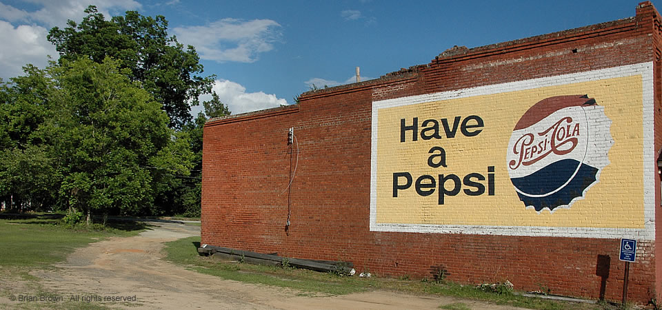 Bartow Original pepsi sign